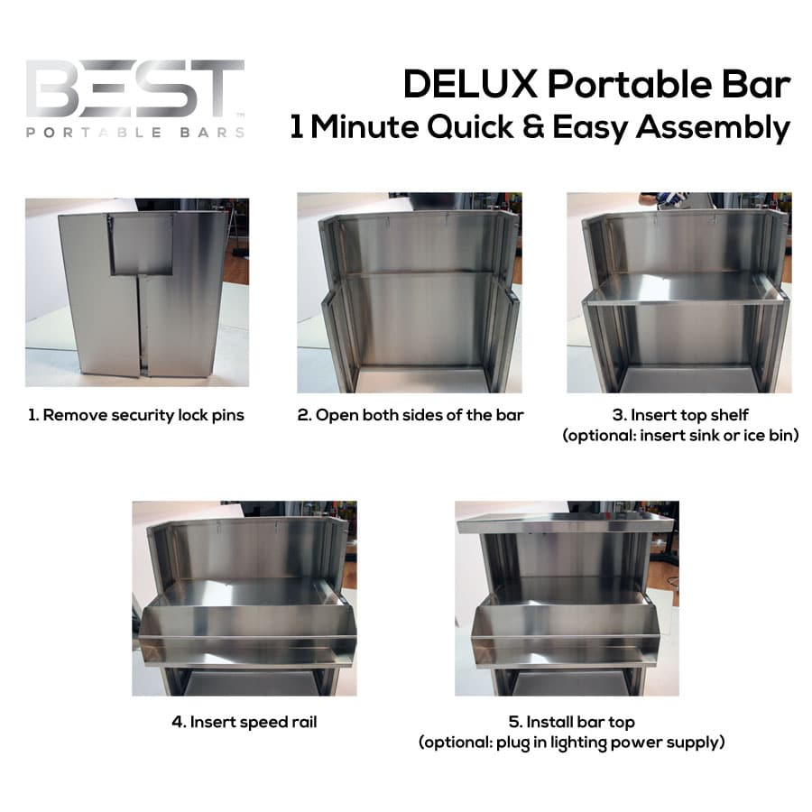DELUX Portable Bar Quick And Easy 1 Minute Assembly
