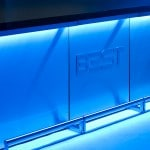 3 DELUX Bars joined in continuous bar with 3d holographic blue Light, by BEST