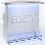 Spectacular and Elegant DELUX Portable Bar, by BEST, with blue 3d holographic lights