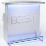 Bar portable DELUX personnalisé avec logo, éclairage bleu