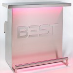 Spectacular and Elegant DELUX Portable Bar, by BEST, with red 3d holographic lights