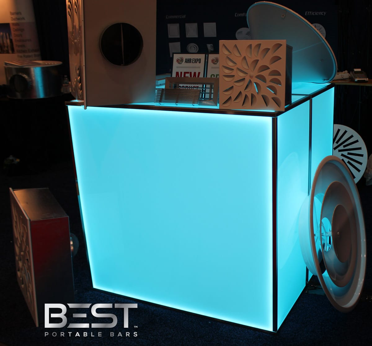 Top 7 Reasons Why The Best Home Bar Design Is A: PlexBoX Back Lit Mobile Bar, By BEST