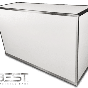 VERSATI Mobile Bar White Plexi No Lights