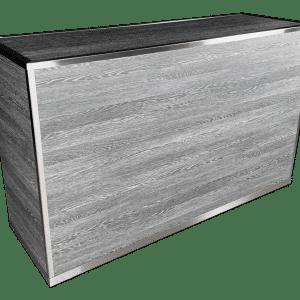 VERSATI Portable Bar with Pepper Wenge Wood Imitation Laminate Panels