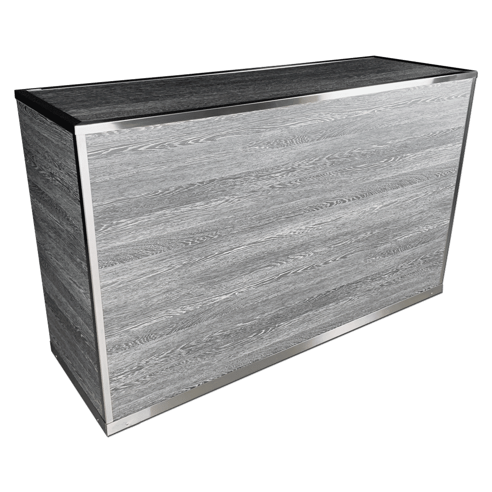 VERSATI Portable Bar with Pepper Wenge Wood Imitation Laminate Panels