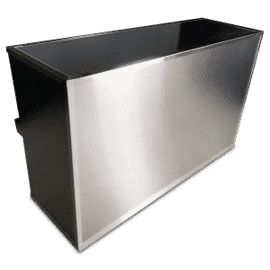 Brushed Stainless Steel Cover Panels For VERSATI Portable Bar on Wheels